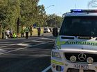 Three children are being assessed by paramedics after a nose to tail on Glenlyon St.