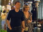 Tom Hiddleston laughed off questions about his girlfriend Taylor Swift as he was interviewed by a Channel Nine reporter.