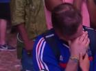 French fan crying. Screenshot BBC