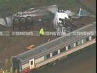 Train wreck Victoria screenshot Nine News