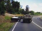 Dash cam of loose trailer.