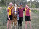 Chinchilla horse riders Alisha Griffith and Ashley and Holly Sturgess have real reason to smile.