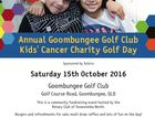 Annual Goombungee Golf Club Kids' Cancer Charity Golf Day.  This is a community fundraising event hosted by Rotary Club of Toowoomba North