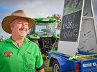 MILK WARS: Greg 'Farmer Gregie' Dennis rolled in to Calliope during his 2000km journey raising awareness for dairy farmers. Photo Mike Richards / The Observer