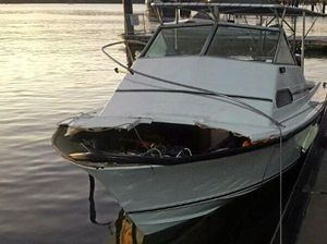Boat collision with buoy in Gladstone tears bow apart