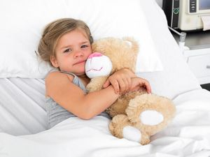Sick child in hospital. Thinkstock image