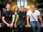 MasterChef Australia's final four contestants, from left, Harry Foster, Elena Duggan, Elise Franciskovic and Matt Sinclair.