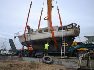 Boat dredged from 'Siberia'