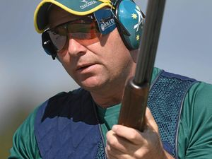 ON TARGET: Australian shooter Adam Vella in action during the men's trap competition at the 2014 Commonwealth Games.