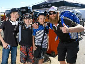 Tyler Day, Deegan McNamara, Joshua Day and Michael McNamara at the Coates Hire Ipswich SuperSprint.
