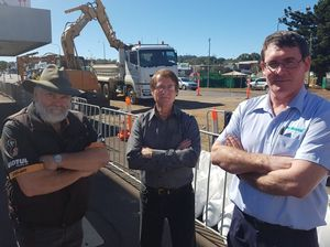 Udy Quad Country owner Geoff Udy, Rumours International owner Jim Aspromourgos and Mark Norman from Mr Rentals are upset with Toowoomba Regional Council.