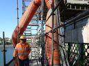 FRESH COAT: The repair and repainting of the Burnett Traffic Bridge.