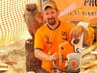 Chainsaw wood carver Rob Bast doesn't quite know how he ended up making his living from what he loves doing, but he is sure glad it happened.