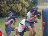 Free Laser skirmish as part of the Out of the Box program. Check it our at Market Square, Grafton.