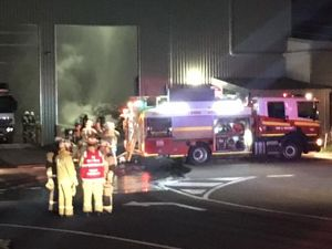 The scene at the Greater Toowoomba Waste Management Facility following a fire. Photo 7 News Toowoomba