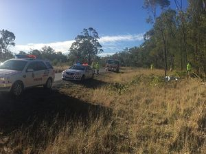 The scene of the crash near Leyburn. Photo 7 News Toowoomba