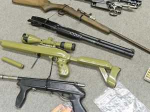 Police uncover cache of weapons