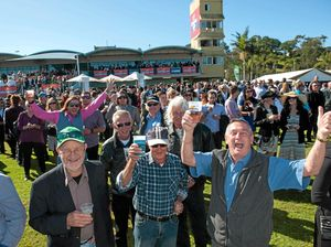 Happy punters at last year's Coffs Harbour Gold Cup.