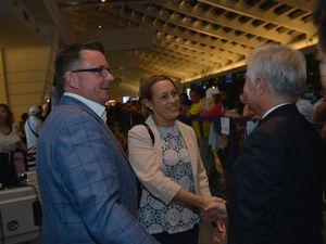 North Burnett Mayor Rachel Chambers and Logan City Mayor Luke Smith meet delegates in Taiwan.