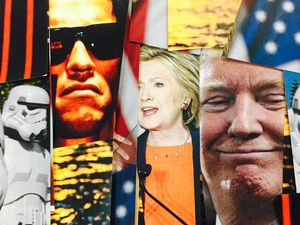 LOST THE PLOT: Is the US election shaping up to be a really, really, really ridiculously bad movie. Artwork: Jackson Montage.
