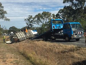 A 4WD lost it's load on Hervey Bay Maryborough Rd.