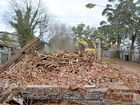 A PART of the Albion St landscape was levelled yesterday.
