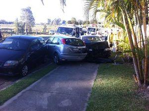 Three vehicles crashed on Wises Rd, Buderim.