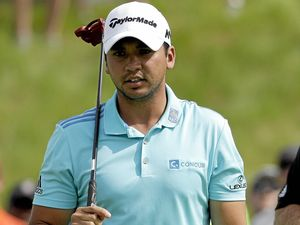STRIKING DISTANCE: Jason Day, of Australia, is three off the lead at the US PGA Championship.