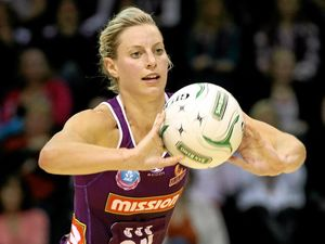 STRONG DEFENCE: Laura Geitz will hope to lead her Firebirds to a second-straight ANZ Championship title.