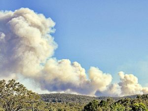 Smoke over town due to controlled burns