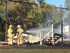 "A PEREGIAN Beach home has been ""totally destroyed"" in a fire this morning."