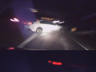 Dashcam shot of collision.
