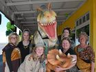 CUSTOMERS at Heaven Leigh Cupcakes on Hughes Tce could be forgiven for thinking they had stumbled into a scene from Jurassic Park when they were greeted by a Ty