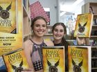 Gabby (left) and Georgie White are excited to get their hands on Harry Potter and the Cursed Child at The Book Tree.