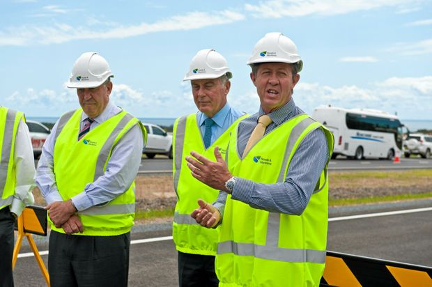 Federal Member for Cowper Luke Hartsuyker, pictured here at the opening of Sapphire to Woolgoolga Pacific Hwy upgrade, has welcomed the next stage of planning on the Coffs Harbour Bypass.