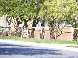 Crime scene at Booval property
