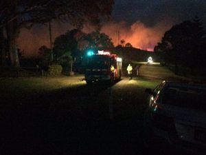 WATCH: Fire crews battle out of large blaze