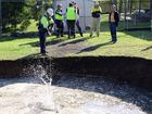 Day two of sink hole drama from at Basin Pocket.