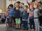 Father Michael McCarthy opens St Joseph's Catholic Primary School's new kindergarten, multi-purpose activity room and library refurbishment.