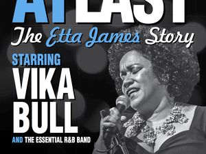 Starring the sensational Vika Bull, At Last tells the story of soul legend Etta James' turbulent life and features some of her most beloved songs .