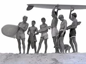 Midget among pioneers to surf on Cooloola Coast