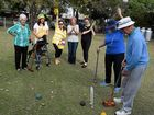 Residents at Wahroonga Retirement Village line up for their very own Olympic Games tournament.
