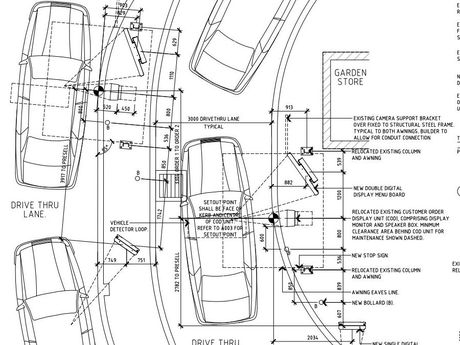 Proposed plans to build a two-lane drive-thru at McDonalds on Limestone Street.Photo: Contributed
