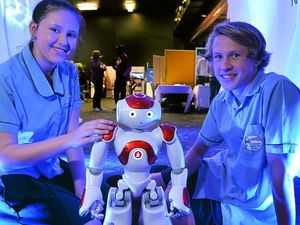 Kids make friends with robots at new event