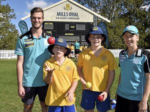 Kids warm to visit from Brisbane Heat hot shots