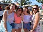 India Slade, Hannah Schick, Lily Slade and Georgia Schick at the Yeppoon CQUniversity Village Festival on Sunday.