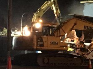 Bunnings explains night time demolition