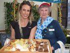 One of the more than 70 stallholders at the Seniors Expo 2016. (L) Sarah Chapman of OzCare, (R) Helen Virgo of National Seniors Australia.