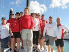 Crew of the Victoire in Airlie Beach on Saturday.