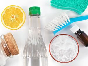 Eco-friendly natural cleaners include vinegar, baking soda, salt, lemon and essential oils.